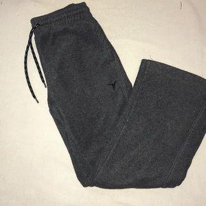 Old navy boys size 8 gray fleece sweat pants guc